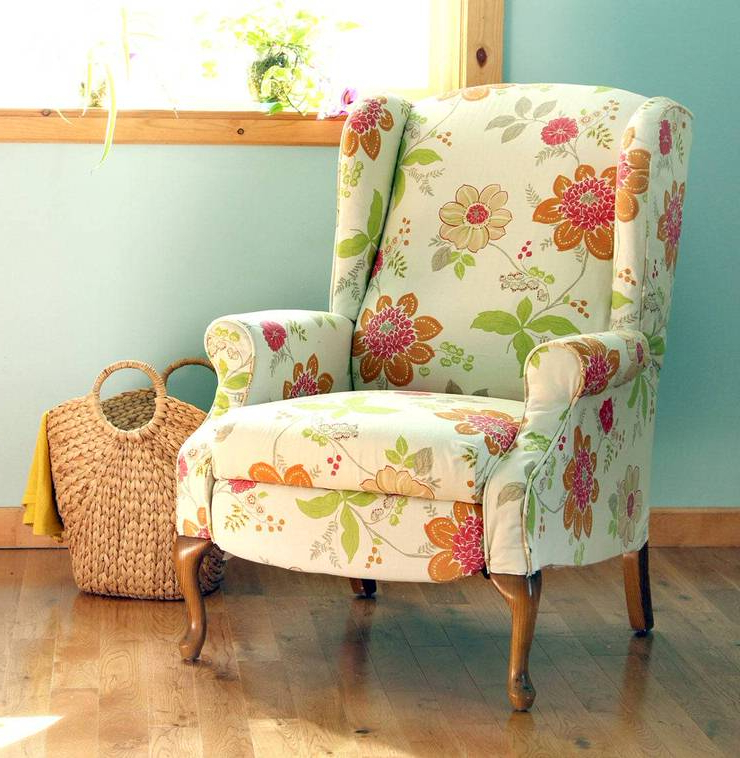 Myia Armchairs Regarding Most Up To Date How To Reupholster A Chair • The Budget Decorator (View 23 of 30)