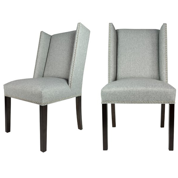 Nail Head Dining Chairs With Recent Madison Avenue Tufted Cotton Upholstered Dining Chairs (set Of 2) (View 18 of 30)