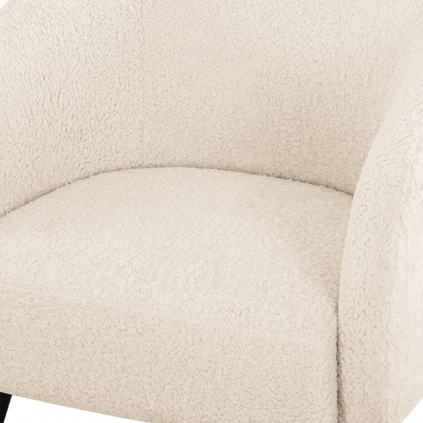 Nashville Armchair, Boucle Upholstered, Cream Regarding Widely Used Dara Armchairs (View 29 of 30)