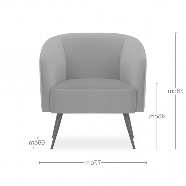 Nashville Armchair, Boucle Upholstered, Cream With 2019 Dara Armchairs (View 20 of 30)