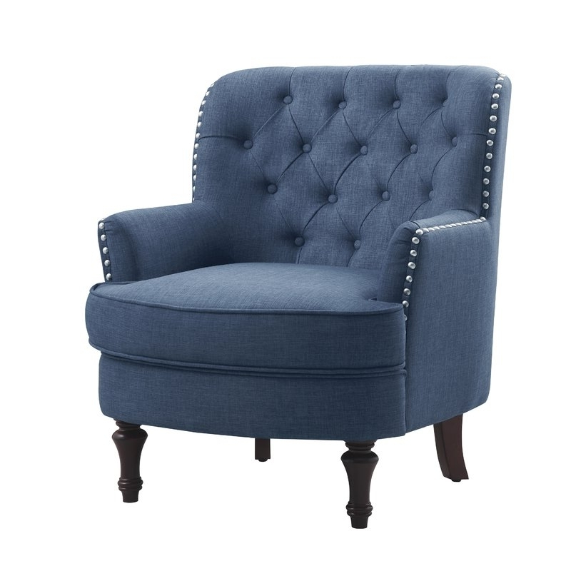 Navy Blue Accent Chair You'll Love In 2021 – Visualhunt Throughout Trendy Loftus Swivel Armchairs (View 15 of 30)