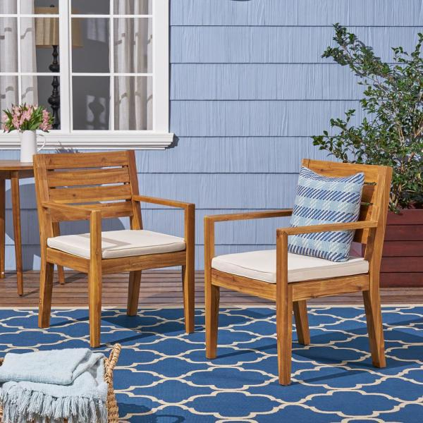 Nestor Wingback Chairs For Well Liked Noble House Nestor Sandblast Wood Outdoor Lounge Chair With (View 22 of 30)