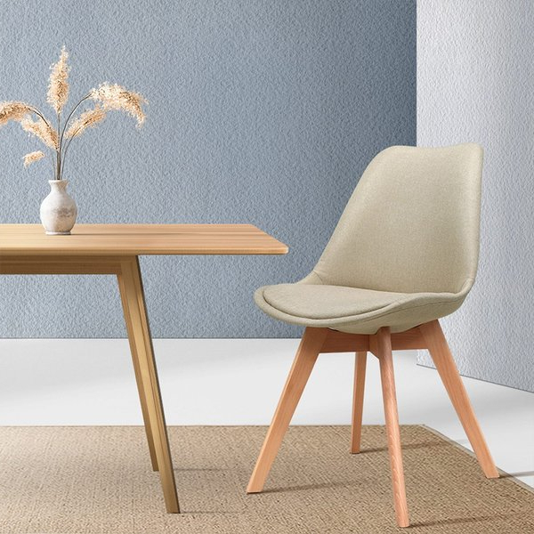 Newest Aime Dining Chair (set Of 2) Pertaining To Aime Upholstered Parsons Chairs In Beige (View 15 of 30)