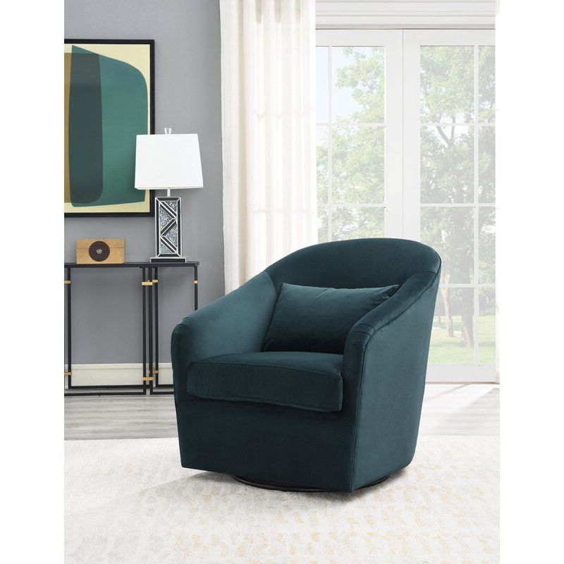Newest Arlea High Back Swivel Barrel Chair With Danow Polyester Barrel Chairs (View 8 of 30)