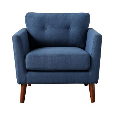 Newest Cadet Blue – Accent Chairs – Chairs – The Home Depot Throughout Dallin Arm Chairs (View 11 of 30)