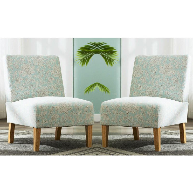 """Newest Goodspeed Slipper Chairs (set Of 2) Throughout Kiska 21"""" Slipper Chair (View 7 of 30)"""