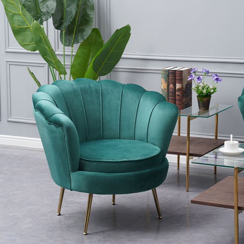 Newest Graphic Customization Flower Lounge Chairs Modern Gold Stainless Steel Accent Green Finger Flower Shape Armchair Occasional Club Velvet Lounge Single Sofa Chairs Throughout Cohutta Armchairs (View 18 of 30)