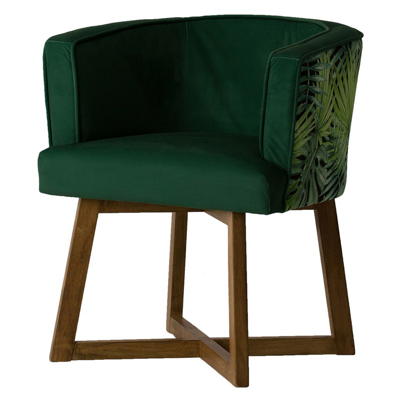 Newest Green Polyester Armchair, 65x52x73 Cm Regarding Leia Polyester Armchairs (View 27 of 30)