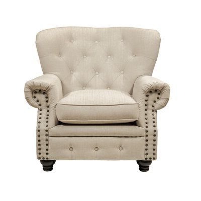 Newest Kjellfrid Chesterfield Chairs Pertaining To Darby Home Co Lindstrom Armchair Finish: (View 28 of 30)