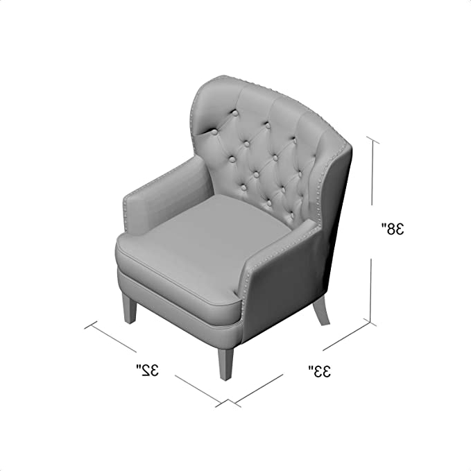 Newest Lenaghan Wingback Chairs Inside Amazon: Lenaghan Wingback Chair: Kitchen & Dining (View 22 of 30)