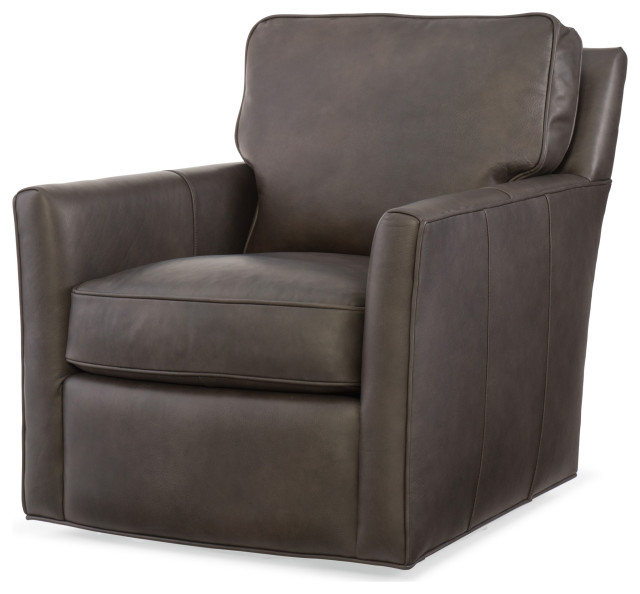 Newest Mandy Swivel Club Chair Intended For Sheldon Tufted Top Grain Leather Club Chairs (View 16 of 30)