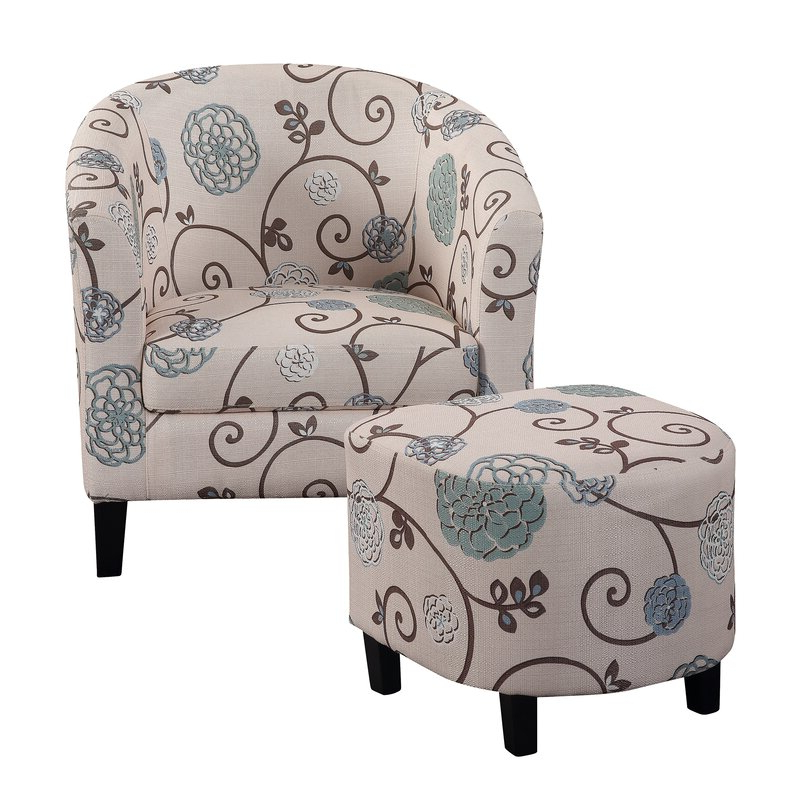 Newest Riverside Drive Barrel Chair And Ottoman Sets For Lei Barrel Chair And Ottoman (View 5 of 30)
