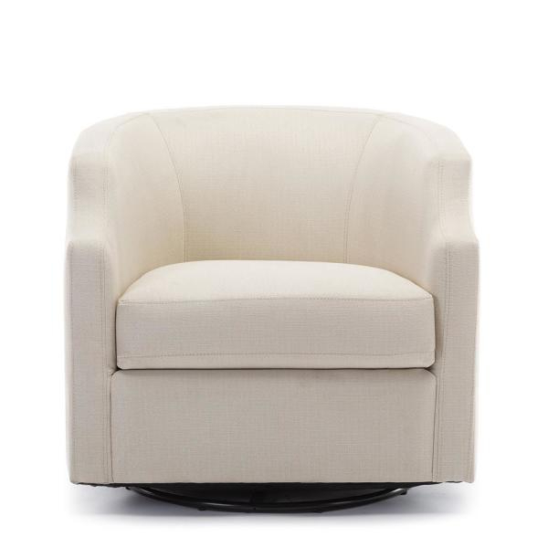 Newest Unbranded Infinity Linen Swivel/rocker Barrel Chair 8092 04 For Danow Polyester Barrel Chairs (View 6 of 30)