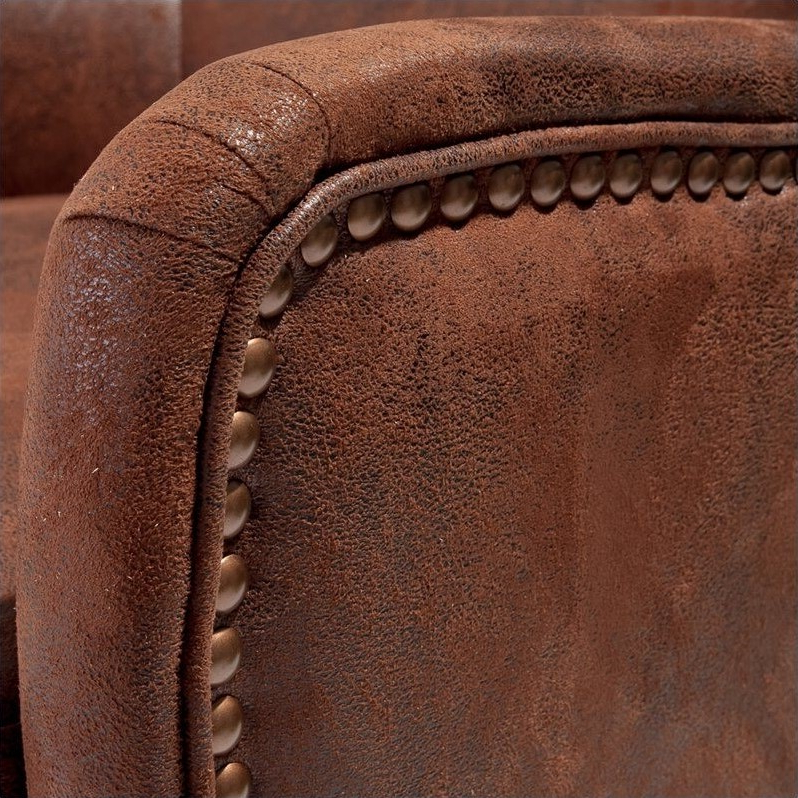 Noble House Columbus Fabric Studded Club Chair In Brown For Most Recent Columbus Armchairs (View 30 of 30)