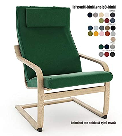 Oglesby Armchairs Regarding Most Recently Released Buy Vepping Lude Multi Colored Ikea Poäng Armchair Cover (View 18 of 30)
