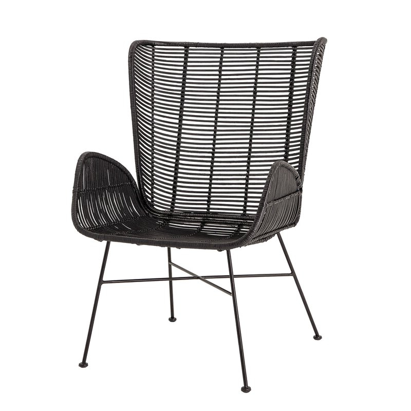 """Oglesby Woven Rattan 19"""" Armchair Throughout Latest Oglesby Armchairs (View 4 of 30)"""