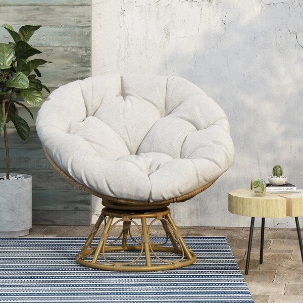 Outdoor Papasan Chair Intended For Favorite Rosati Mongolian Fur Papasan Chairs (View 7 of 30)