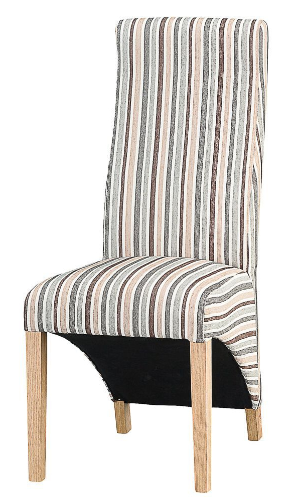 Padstow Duck Egg Blue Stripe Upholstered Dining Chair With 2020 Bob Stripe Upholstered Dining Chairs (set Of 2) (View 4 of 30)