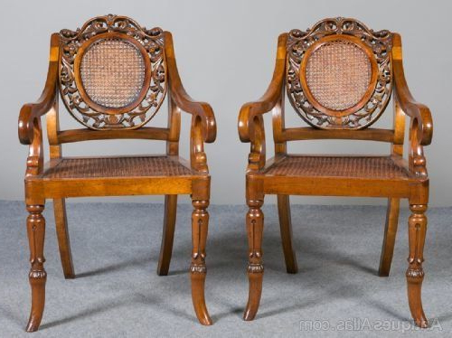 Pair Of Anglo Indian Elbow Chairs (View 16 of 30)