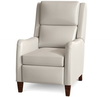 Peyson Leather Power Recliner Body Fabric: Milestone White, Leg Color: Espresso, Cushion Fill: Hr Foam, Reclining Type: Power Button For Newest Harland Modern Armless Slipper Chairs (View 17 of 30)