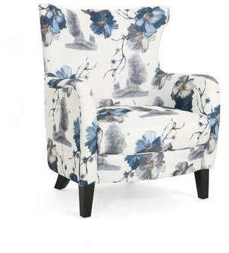 Pin En Blue And White And Gray Flowered Chairs With Well Liked Leia Polyester Armchairs (View 6 of 30)
