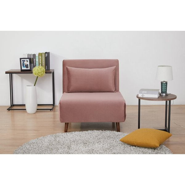 Pink Sleeper Chair Throughout Most Recently Released Artressia Barrel Chairs (View 20 of 30)