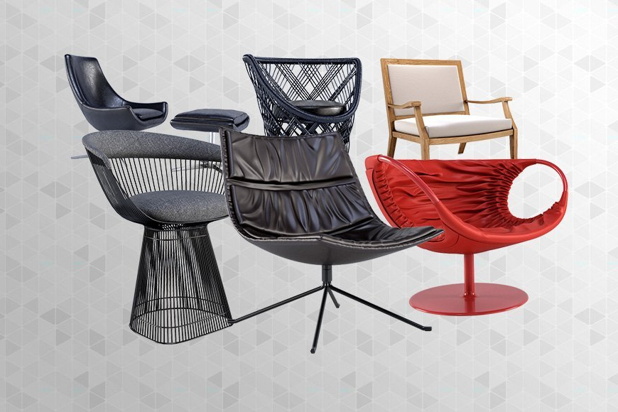 Popel Armchairs In 2019 Free 3d Models Armchairs V1 – Viz People (View 11 of 30)