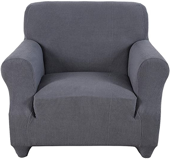 Popel Armchairs With Most Current Obstal Stretch Spandex Armchair Couch Slipcover Sofa Covers For Living Room, One Piece Non Slip Chair Slipcover With Elastic Bottom, Chair Coverings (View 19 of 30)