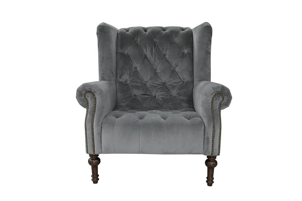 Popular Alexander & James – Theo Leather Winged Armchair In James Armchairs (View 6 of 30)