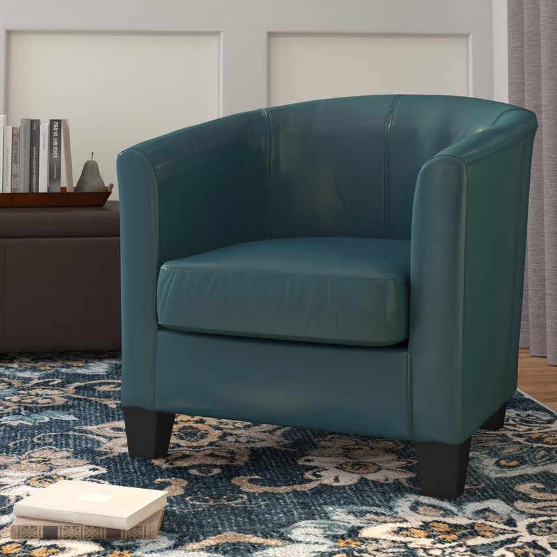 """Popular Colden 30"""" W Faux Leather Barrel Chair Regarding Filton Barrel Chairs (View 12 of 30)"""