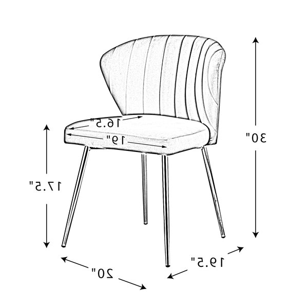 "Popular Daulton Velvet Side Chairs With Regard To Daulton 20"" W Velvet Side Chair (View 5 of 30)"