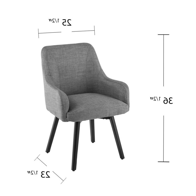 Popular Draco Armchairs With Regard To Draco Pair Of Upholstered Swivel Arm Chairs – Light Gray (View 14 of 30)