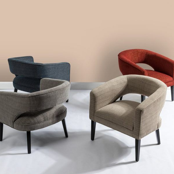 Popular Faux Leather Barrel Chair And Ottoman Sets Within 51 Barrel Chairs With Statement Piece Potential (View 29 of 30)