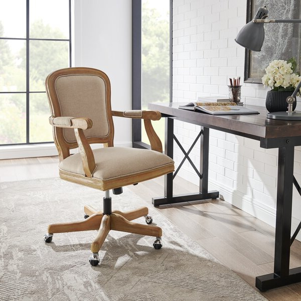 Popular Hutchinsen Polyester Blend Armchairs With French Provincial Desk Chair (View 29 of 30)