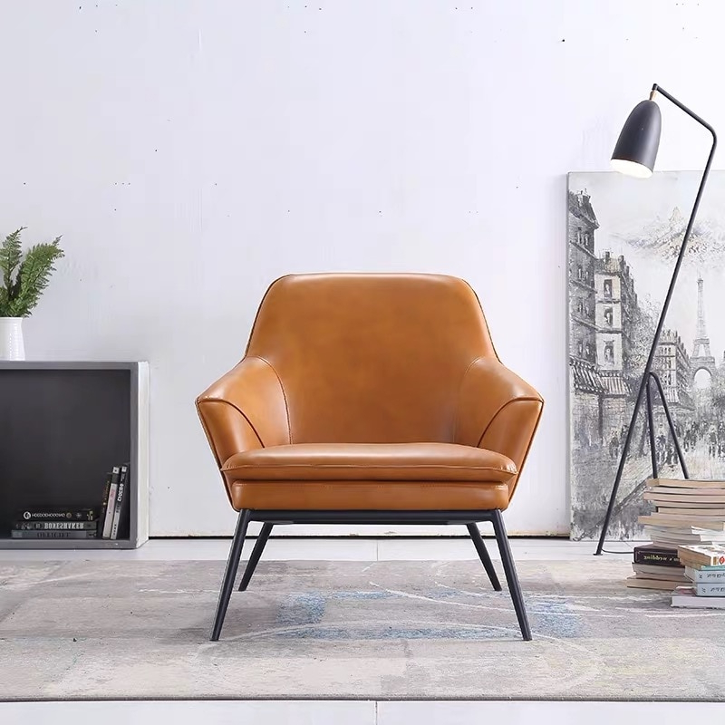Popular Lounge Chairs With Metal Leg Intended For Furniture Chairs 2x Dining Chairs Faux Luxury Leather Seat (View 26 of 30)