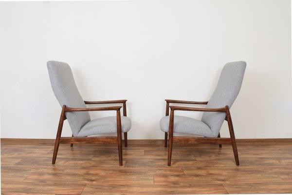 Popular Mid Century Polish Lounge Chairsedmund Homa For Gościcińskie Fabryki Mebli, 1960s, Set Of 2 Regarding Esmund Side Chairs (set Of 2) (View 15 of 30)