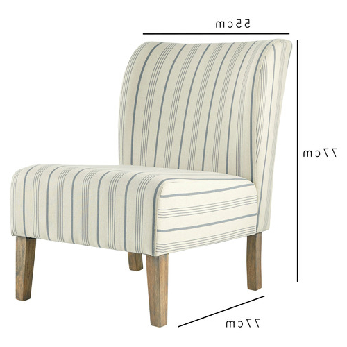 Popular Striped Caldwell Accent Chair For Caldwell Armchairs (View 25 of 30)