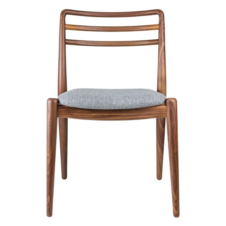 Popular Tor Side Chair Walnut & Grey Wool With Chiles Linen Side Chairs (View 8 of 30)