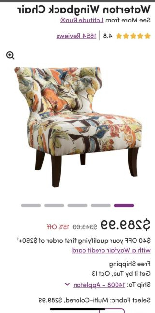 Popular Waterton Wingback Chairs Throughout Set Of 2 Tufted Wingback Modern Accent Chairs (View 14 of 30)