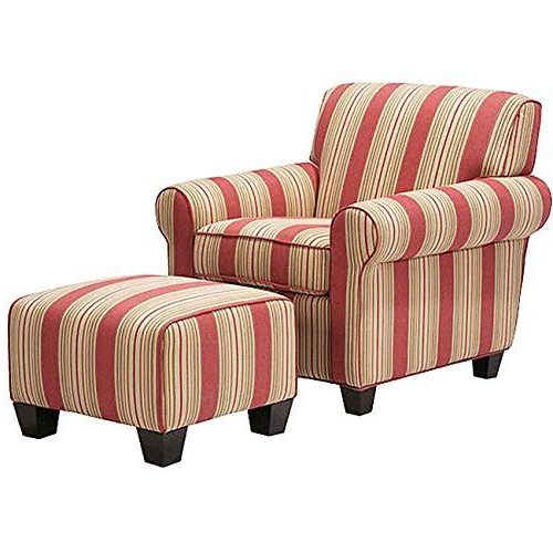 Portmeirion Armchairs Within Most Up To Date Metro Shop Portfolio Mira 8 Way Hand Tied Crimson Red Stripe (View 19 of 30)