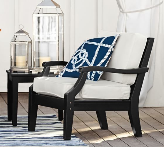 Pottery Barn – Hampstead Painted Armchair In Black (View 16 of 30)