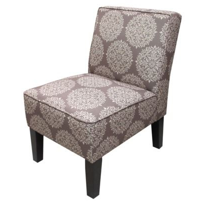 Preferred Armless Upholstered Slipper Chairs Throughout Armless Upholstered Slipper Accent Chair Grey Medallion (View 4 of 30)