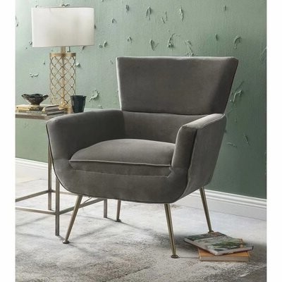 Preferred Biggerstaff Polyester Blend Armchairs Within Toohey Furniture Velvet Arm Chair (View 11 of 30)