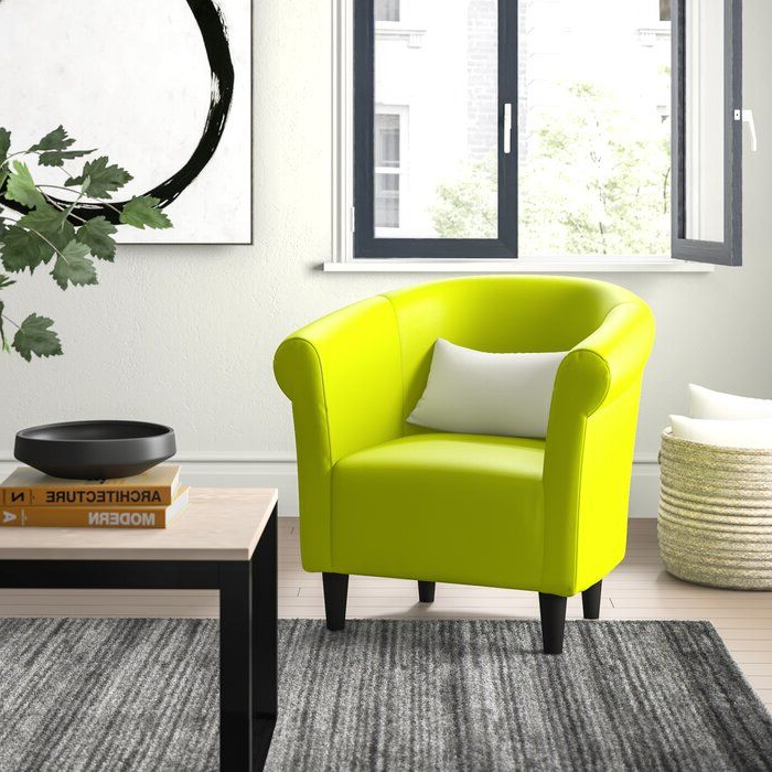 Preferred Liam Faux Leather Barrel Chairs With Regard To Liam (View 9 of 30)