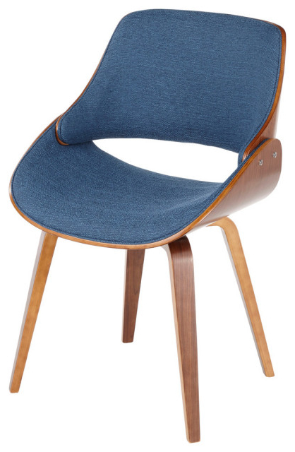 Preferred Lumisource Fabrizzi Dining/accent Chair, Blue With Ronda Barrel Chairs (View 20 of 30)