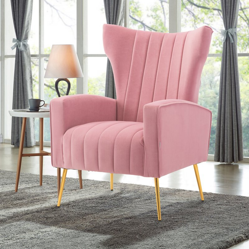 Preferred Perla Wingback Chair Throughout Nestor Wingback Chairs (View 13 of 30)