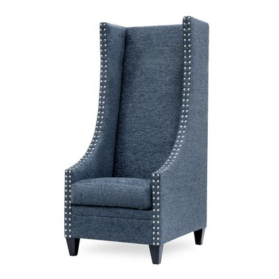 Preferred Saige Wingback Chairs With Saige Tall Wingback Chair Color: Texaco Slate (View 8 of 30)