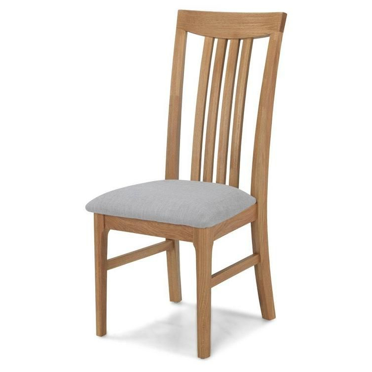 """Preferred Trent Side Chairs Within Oak Slat Back Dining Chair With Natural Fabric Seat Pad (sold In Pairs Only) """""""" (View 28 of 30)"""