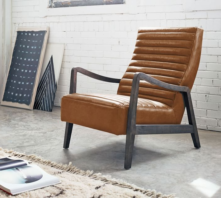 Preferred Walker Leather Armchair In (View 7 of 30)