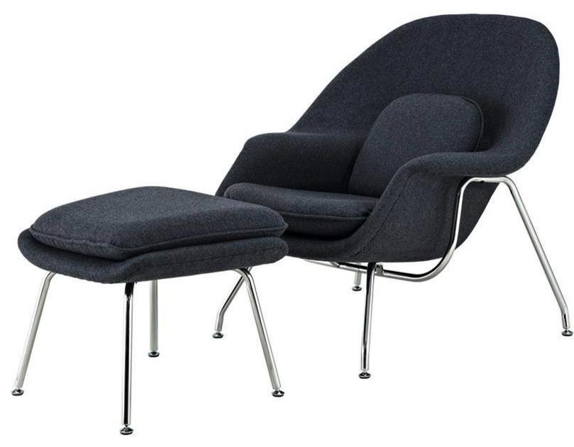 Preferred Zane Lounge Chair And Ottoman, Dark Gray Inside Artemi Barrel Chair And Ottoman Sets (View 12 of 30)